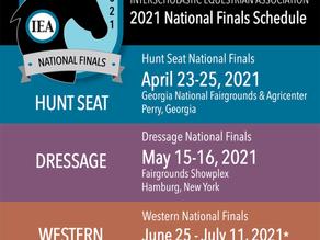 IEA 2021 National Finals Schedule