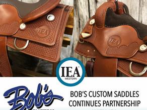 Bob's Custom Saddles Continues Partnership with IEA