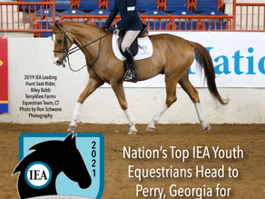 NATION'S TOP IEA YOUTH EQUESTRIANS HEAD TO GEORGIA FOR HUNT SEAT NATIONAL FINALS