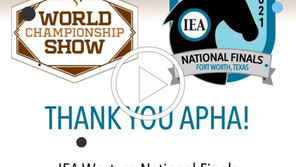 IEA and APHA Partnered to Host the 2021 IEA Western National Finals