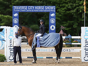 Margie Engle and Royce Race to First Prize in $137,000 Grand Prix of Traverse City CSI3*
