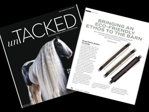 Oaklyn's Eco-Friendly Girths Featured in Untacked Magazine