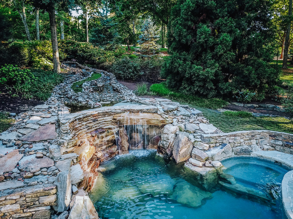 Cascading Water Feature | Native Design & Hardscape