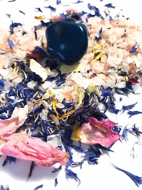 New Moon Spiritual Bath Salts w/ Magnesium and Lapis Lazuli