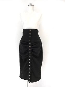 スナップタイトスカート (黒)