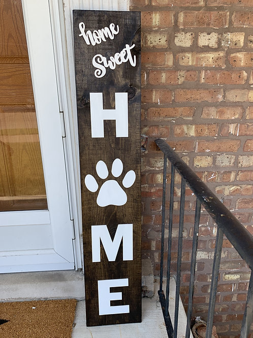 Dog Paw Home Outdoor Sign