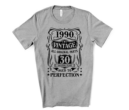 1990 Vintage 30th Birthday T-Shirt