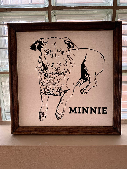 People or Pets Customized Framed Canvas