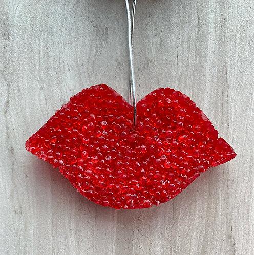 Red Lip Aroma Bead Air Freshener