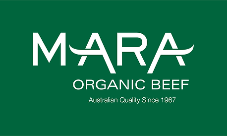 Mara Organic Beef Logo WHITE on GREEN.pn