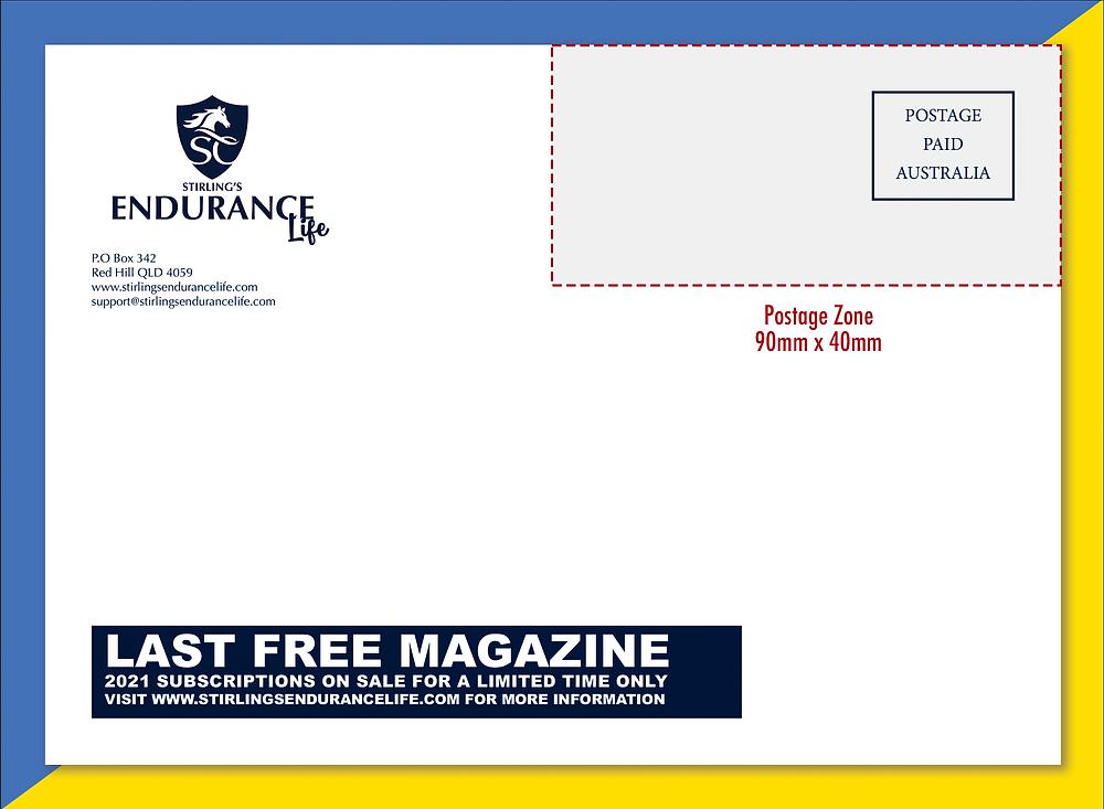 The postage zone for flysheet design