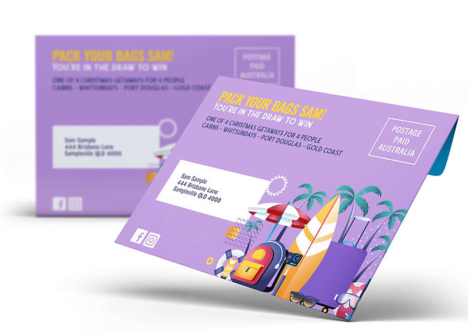 Example of a Direct Mail Campaign and Custom Mailer for Letterbox Marketing