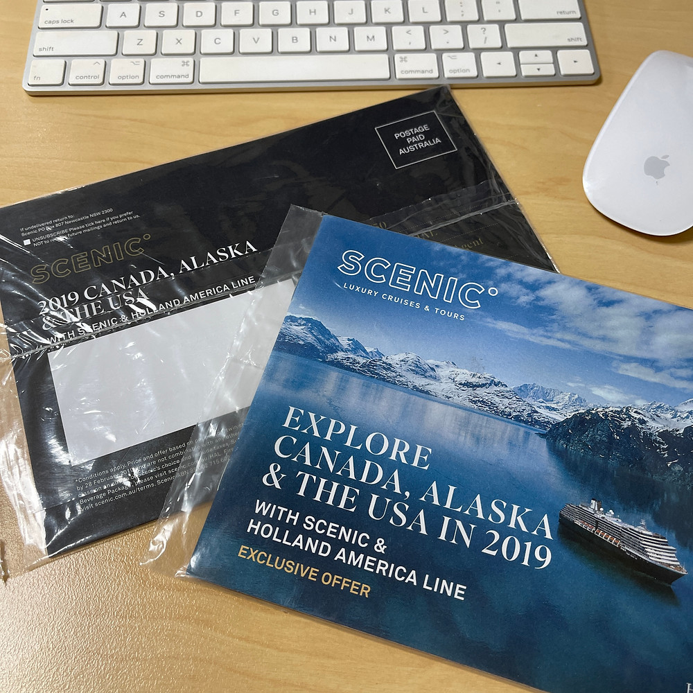 Scenic, Luxury Cruises & Tours Direct Mail Campaign Example