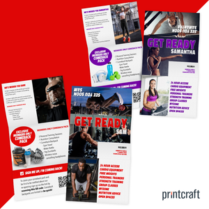 Personalised One Piece Custom Printed Mailer Envelope for Gyms Reopening Campaign