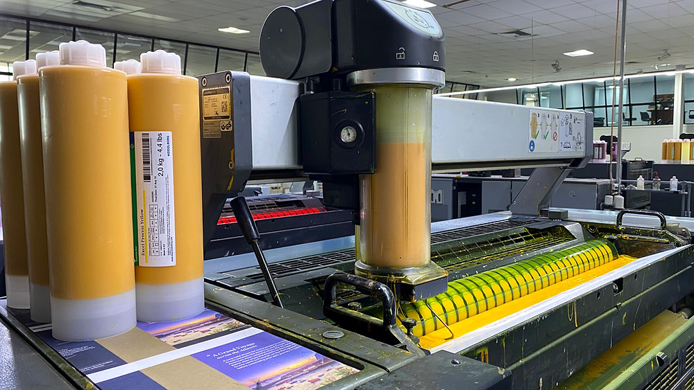 Commercial Offset Printing Press Yellow Inks