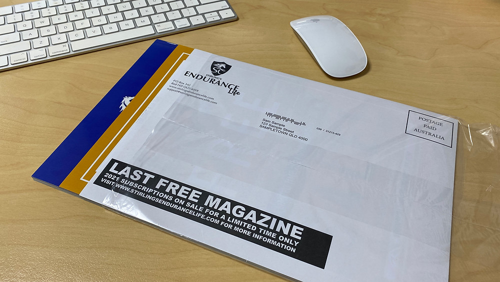 A magazine for mailing with flysheet and onsert