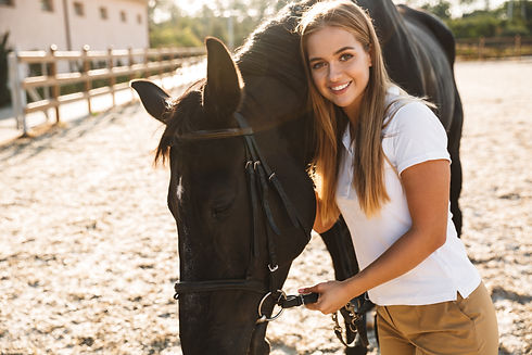beautiful-woman-with-horse-in-countrysid