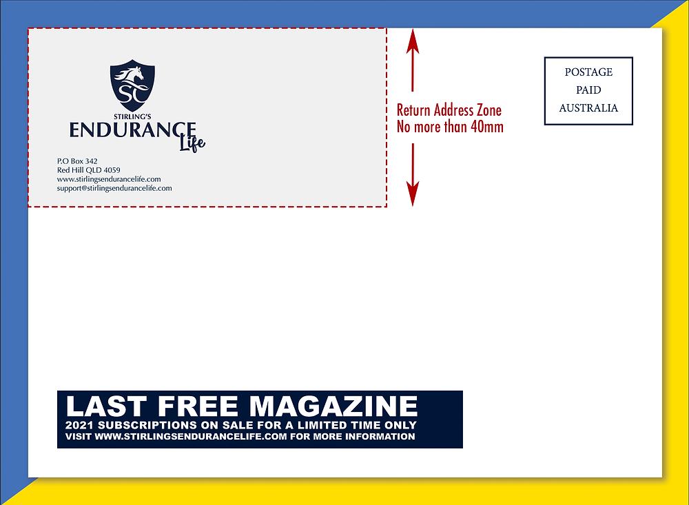 The Return Address zone for flysheet design