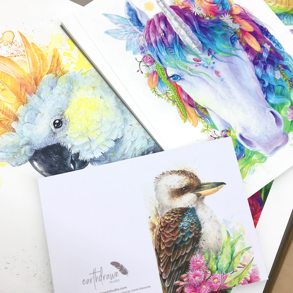 Earthdrawn Studio Fine Art Prints. Printed in vibrant colour on Printcrafts Digital Printing Press.