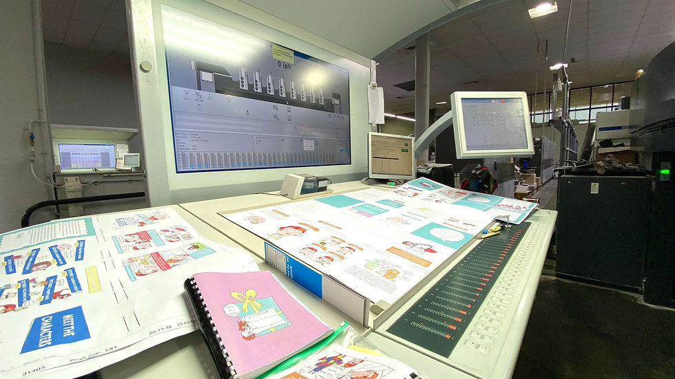 8 Colour Offset Press one of 3 Offset Heidleberg Presses in Princrafts Commercial Printing Facility
