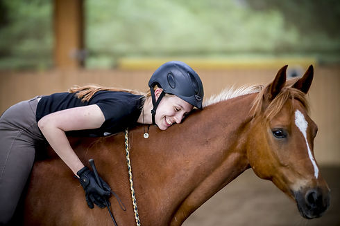 Horse Rider and her horse at a Natural Horsemanship event