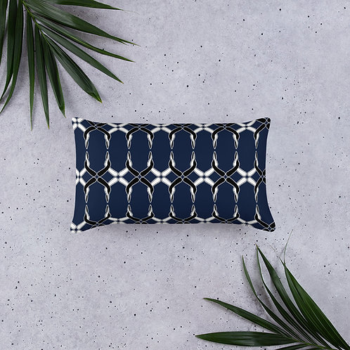 Throw Pillow 20x18 - Navy Pattern