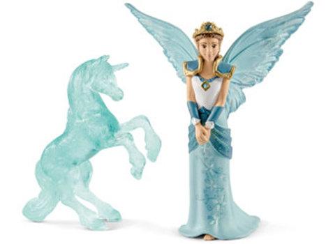 fairy Eyela with Unicorn ice sculpture