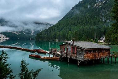 Braies lake, Trentino, Italy
