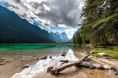 Dobbiaco lake, Trentino, Italy