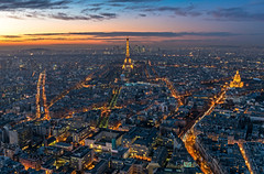 Paris from above, France