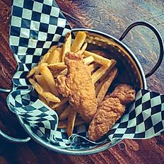 kids chicken finger dinner