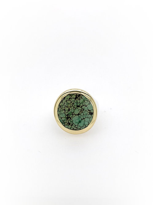 18ky, Silver, and Turquoise Ring