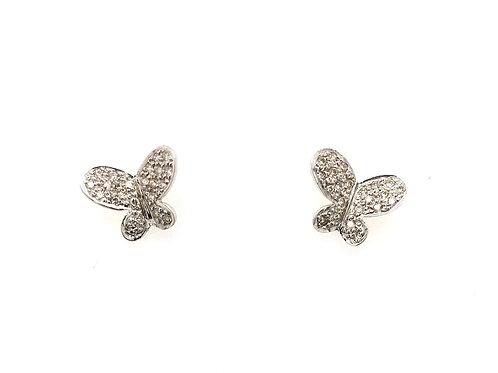 14kw Butterfly Diamond Earrings
