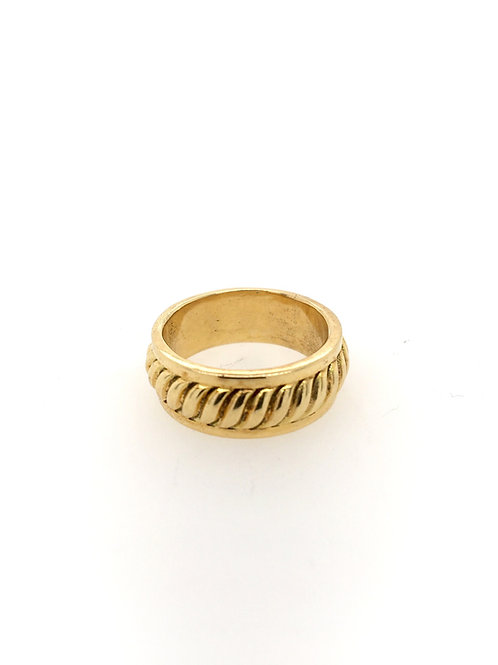 Gold Fluted Wedding Band