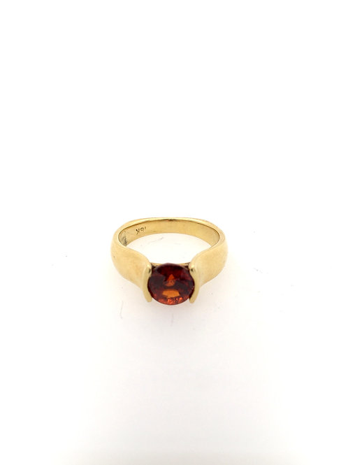 Garnet and 14ky Ring