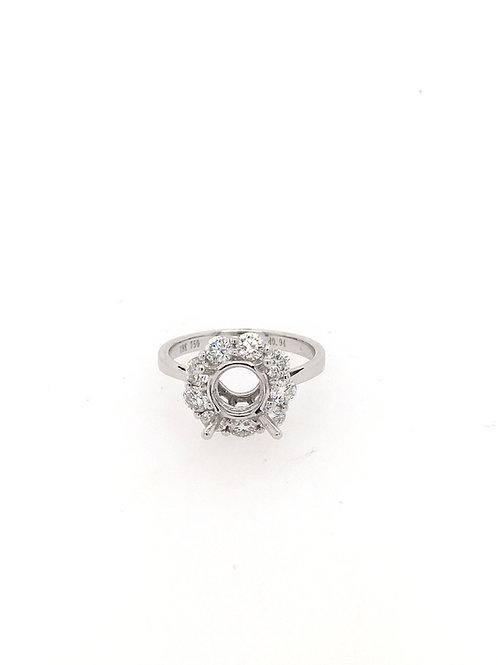 18kw Semi Mount with Diamonds