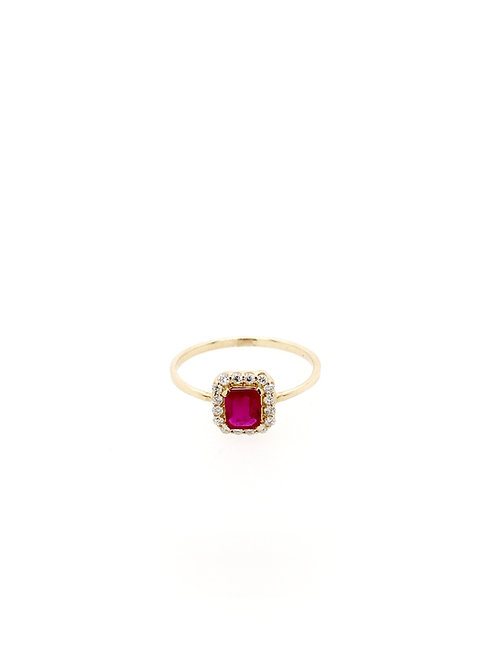 Ruby and Diamond Ring in 14ky