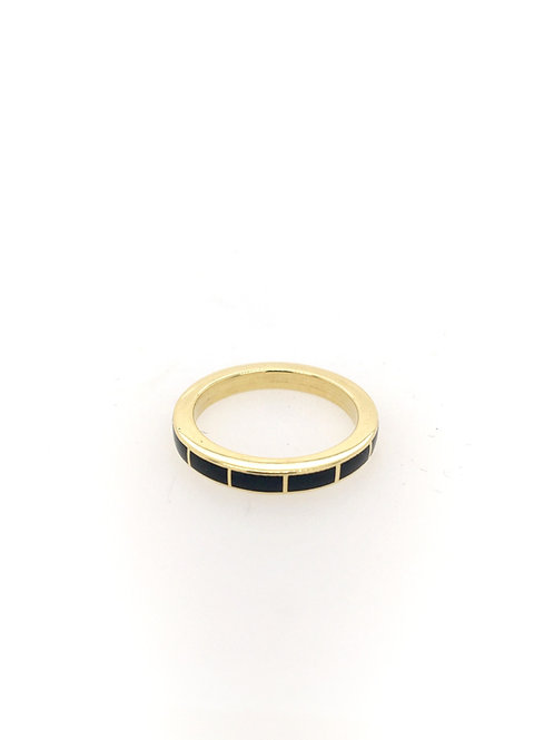 Black Jade Eternity Stackable Ring