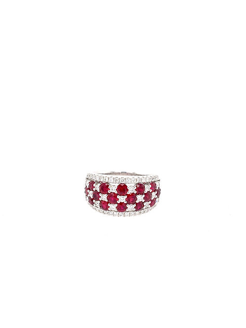 14kw Ruby and Diamond Ring