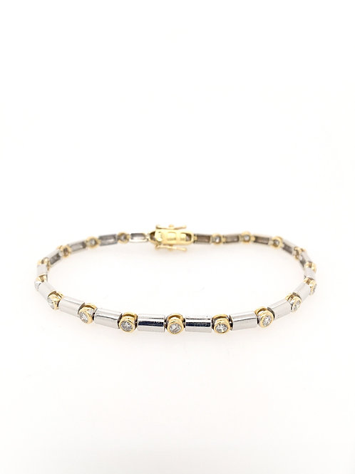 Diamond Two-Tone Tennis Bracelet