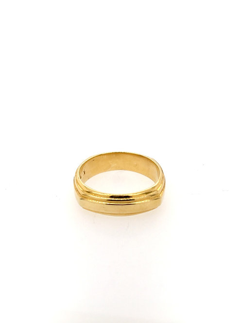Gold Ridged Wedding Band