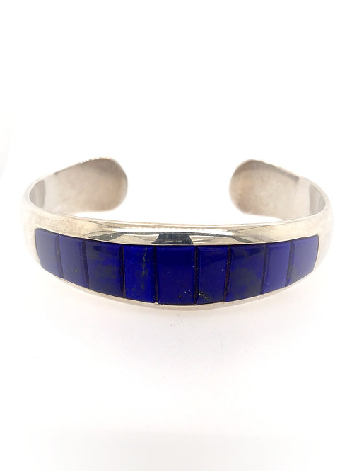 Silver and Lapis Cuff