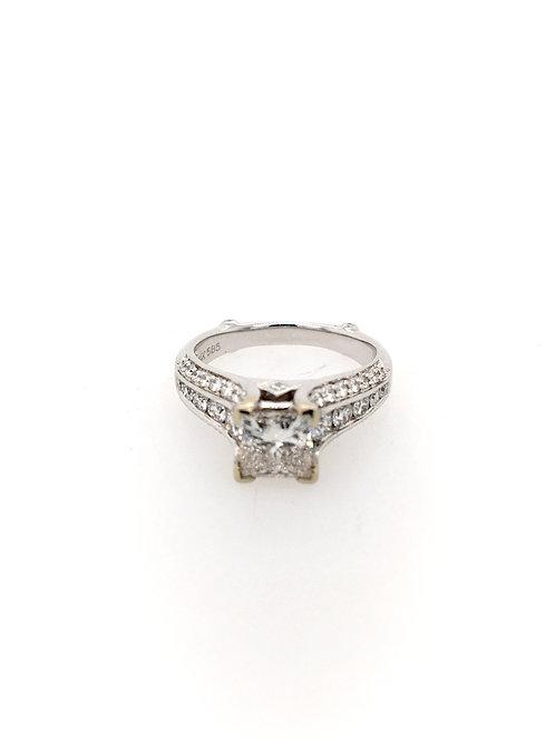 Princess Cut 14kw Engagement Ring