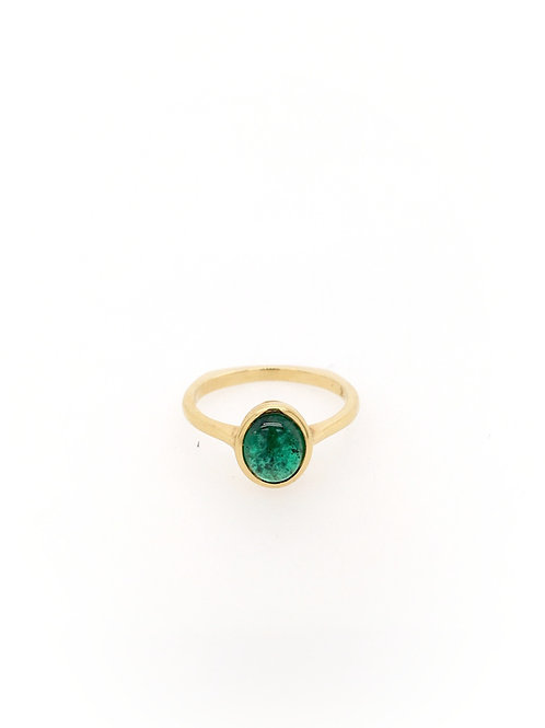 Emerald and Diamond 18ky Ring