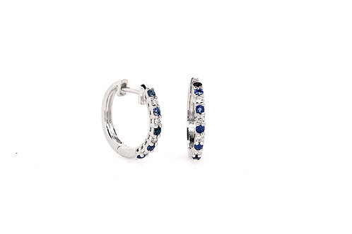 Sapphire and Diamond 14kw Earrings