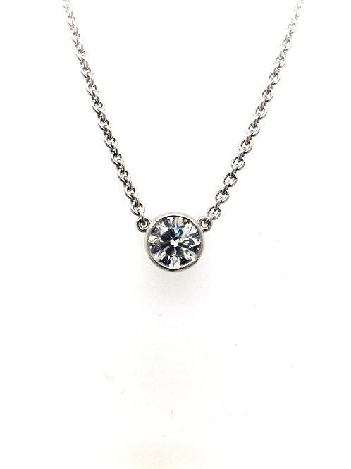 Diamond with Platinum Chain