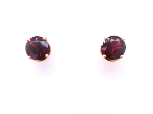 Rhodolite Garnet 14ky Earrings
