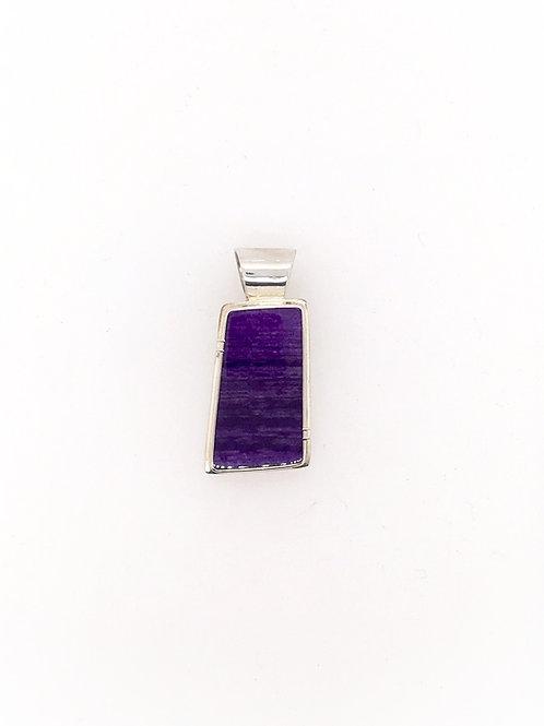 Silver and Sugilite Pendant