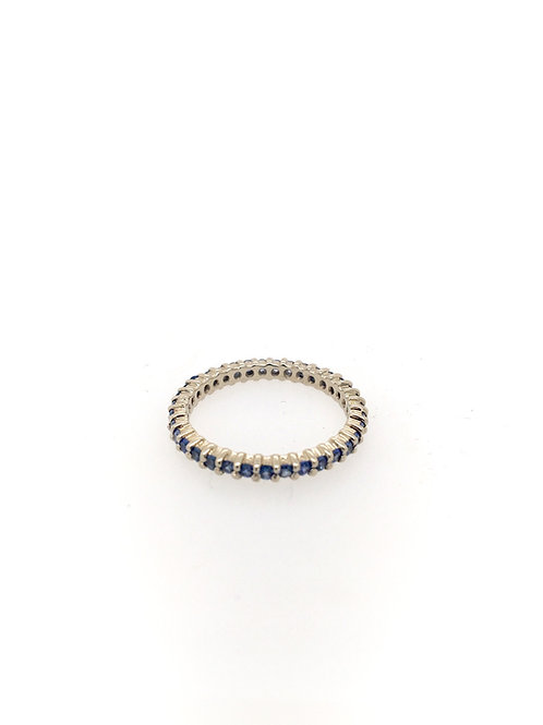 Sapphire Eternity Stackable Ring