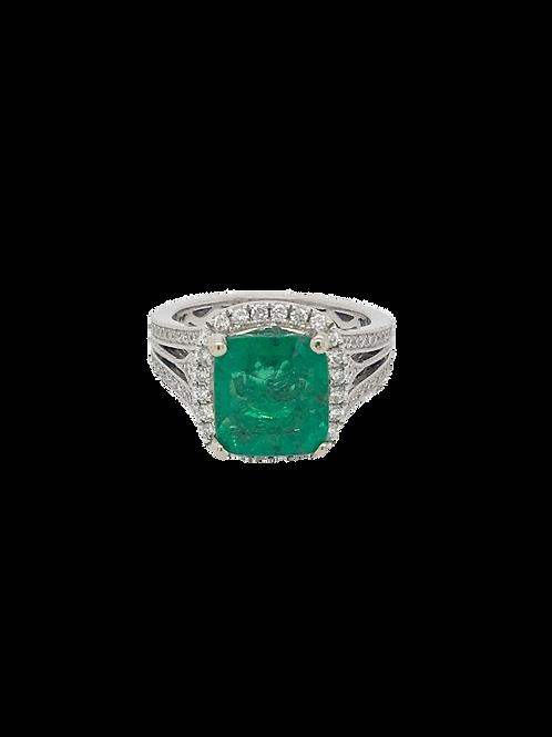 Emerald 14kw Ring